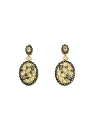 Lets Accessorize Multi-Stone Drop Earrings - Front cropped
