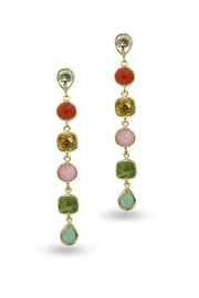Jaimie Nicole Multi-Stone Drop Earrings - Product Mini Image