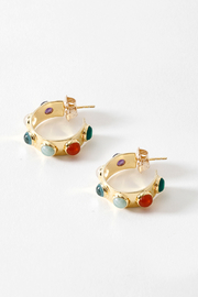 Second Daughter Multi-Stone Hoops - Product Mini Image