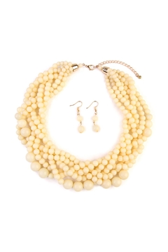 Riah Fashion Multi-Strand-Bubble-Choker Necklace-And-Earring-Set - Product List Image