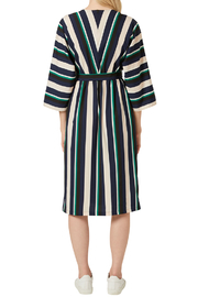 French Connection MULTI STRIPE BELTED DRESS - Back cropped