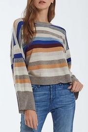 Autumn Cashmere Multi-Stripe Cashmere Crew - Product Mini Image