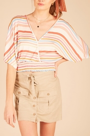 Vintage Havana Multi-Stripe Open-Back Top - Product Mini Image