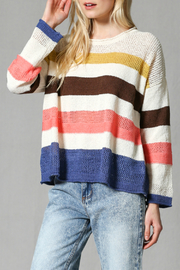 FATE by LFD Multi stripe pullover sweater - Product Mini Image