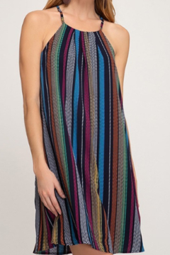 She + Sky Multi-Stripe Swing Dress - Product List Image