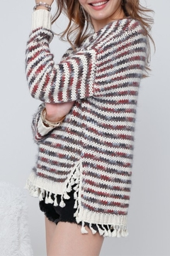 Adora Multi Stripe Tassel Sweater - Alternate List Image