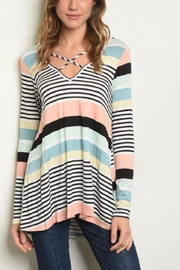 Glam Multi Stripe Top - Product Mini Image