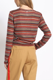 Sans Souci Multi-Stripe Twisted Top - Side cropped