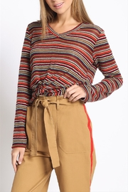 Sans Souci Multi-Stripe Twisted Top - Front cropped