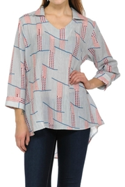 Cubism Multi-Stripe V-Neck Shirt - Front cropped