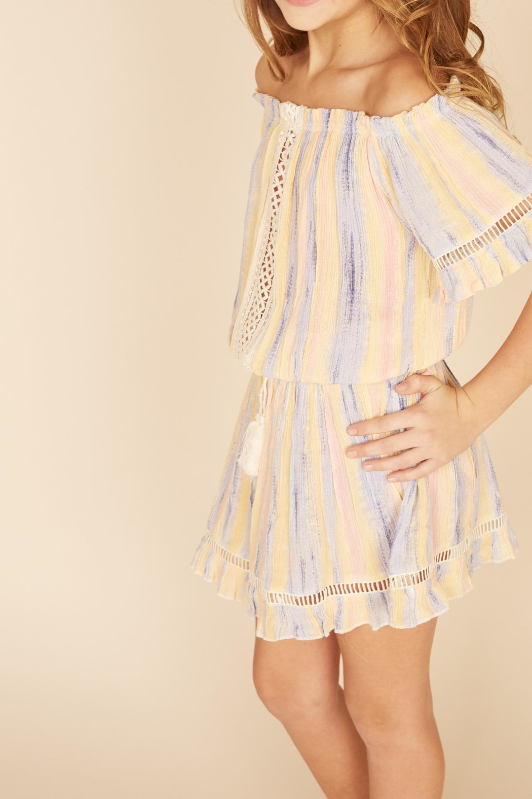 Vintage Havana Multi Striped Dress - Front Full Image
