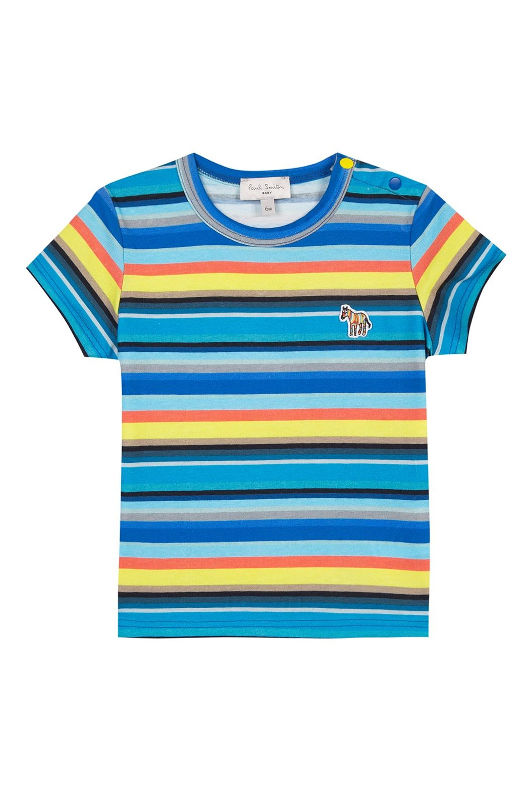 Paul Smith Junior Multi-Striped Tam T.Shirt - Front Cropped Image