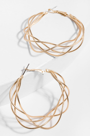 Saachi Multi Surface Hoop Earring - Product Mini Image