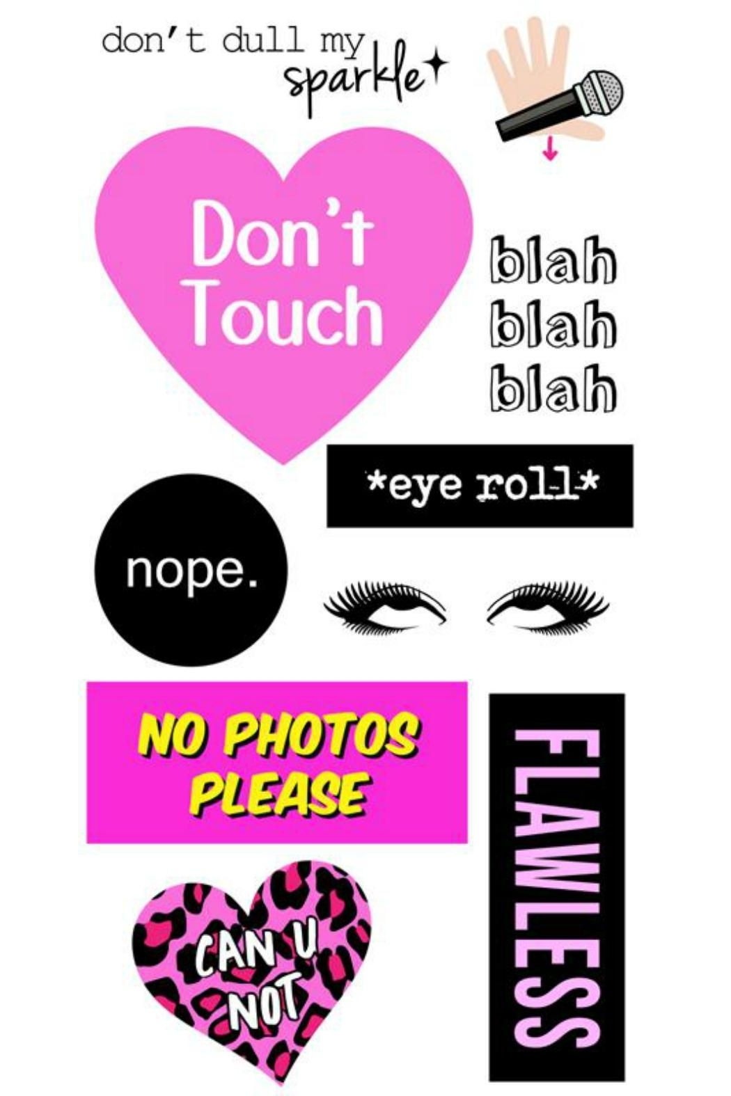 iDecoz Multi-Surface Sticker Tags - Front Cropped Image