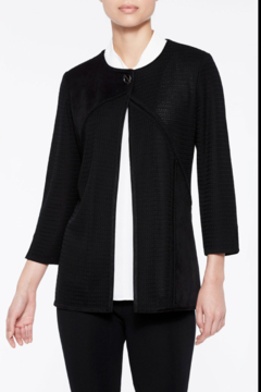 Ming Wang Multi-Texture Toggle Jacket in Black - Product List Image