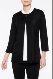 Ming Wang Multi-Texture Toggle Jacket in Black - Product Mini Image