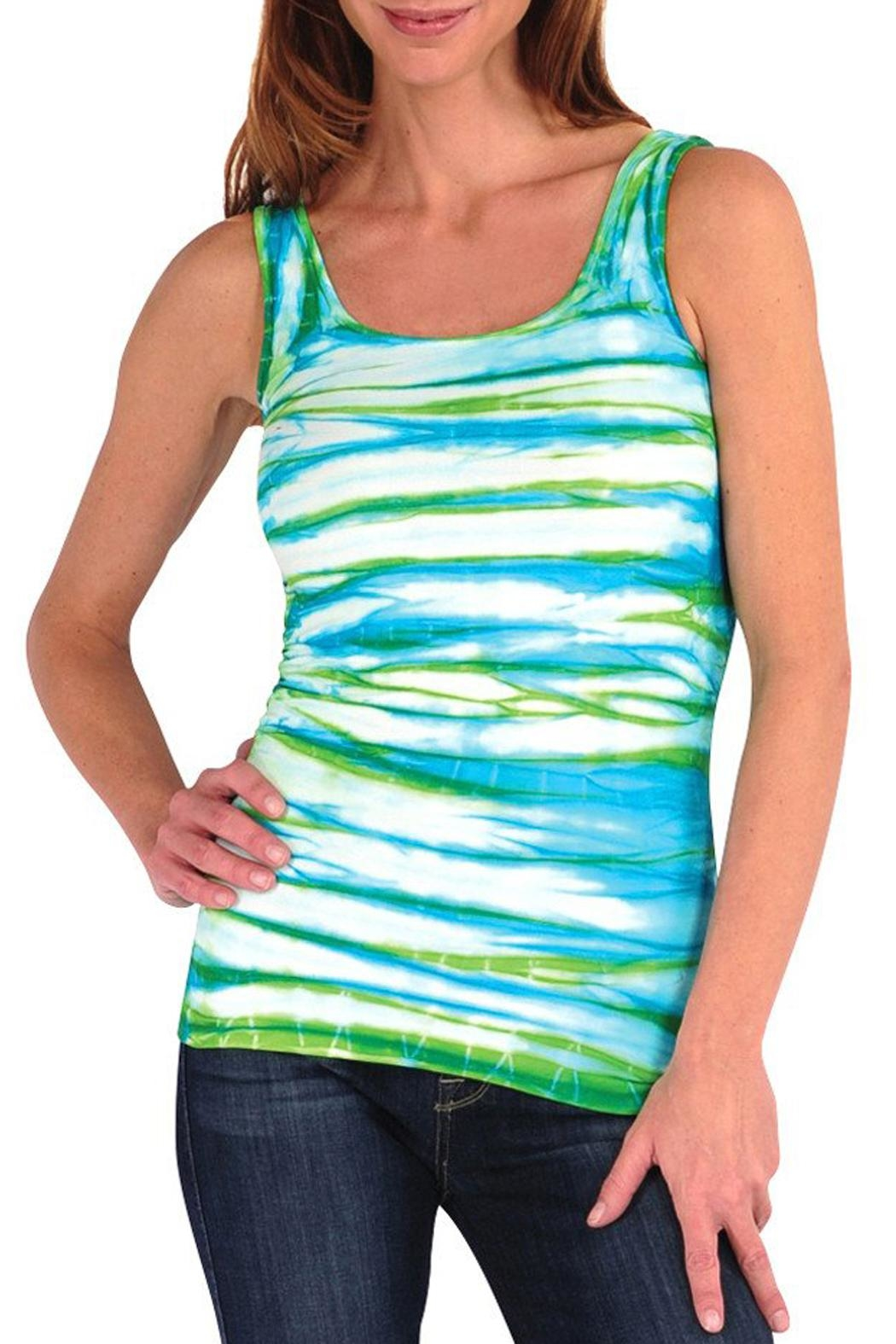Tees by Tina Multi Tyedie Tank - Front Cropped Image