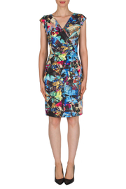 Joseph Ribkoff Multicolor  abstract print dress - Product Mini Image