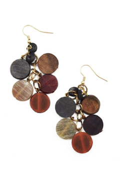 Anju Handcrafted Artisan Jewelry Multicolor Circular Bead Earrings - Alternate List Image