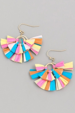 Runway & Rose Multicolor Fan Earrings - Alternate List Image