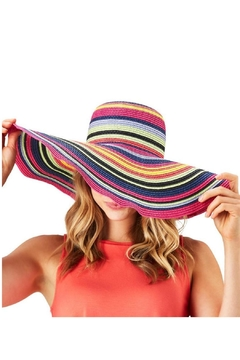 Two's Company Multicolor Floppy Hat - Alternate List Image