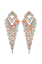 Riah Fashion Multicolor Fringe Earrings - Product Mini Image