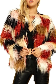 MinkPink Multicolor Fur Jacket - Product Mini Image