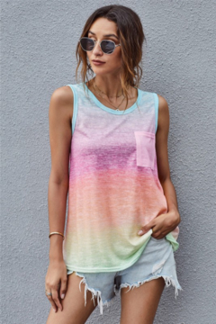 Shewin  Multicolor Ombre Tank Top - Product List Image