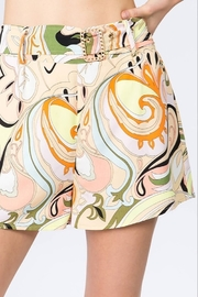 On Twelfth Multicolor Print Belted Short - Product Mini Image