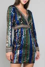 Minuet Multicolor Sequin Dress - Product Mini Image