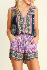 People Outfitter Multicolor Sleeveless Romper - Product Mini Image