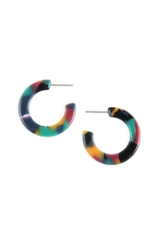 Riah Fashion Multicolor-Small-Hoop Resin-Earrings - Product Mini Image