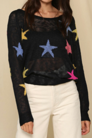 By Together  Multicolor Star Sweater - Front cropped