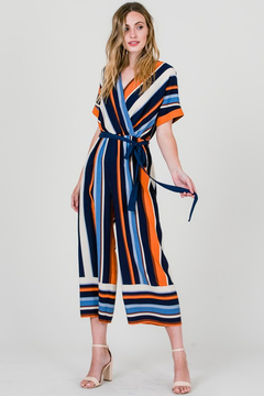 Ces Femme Multicolor Stripe Jumpsuit - Alternate List Image