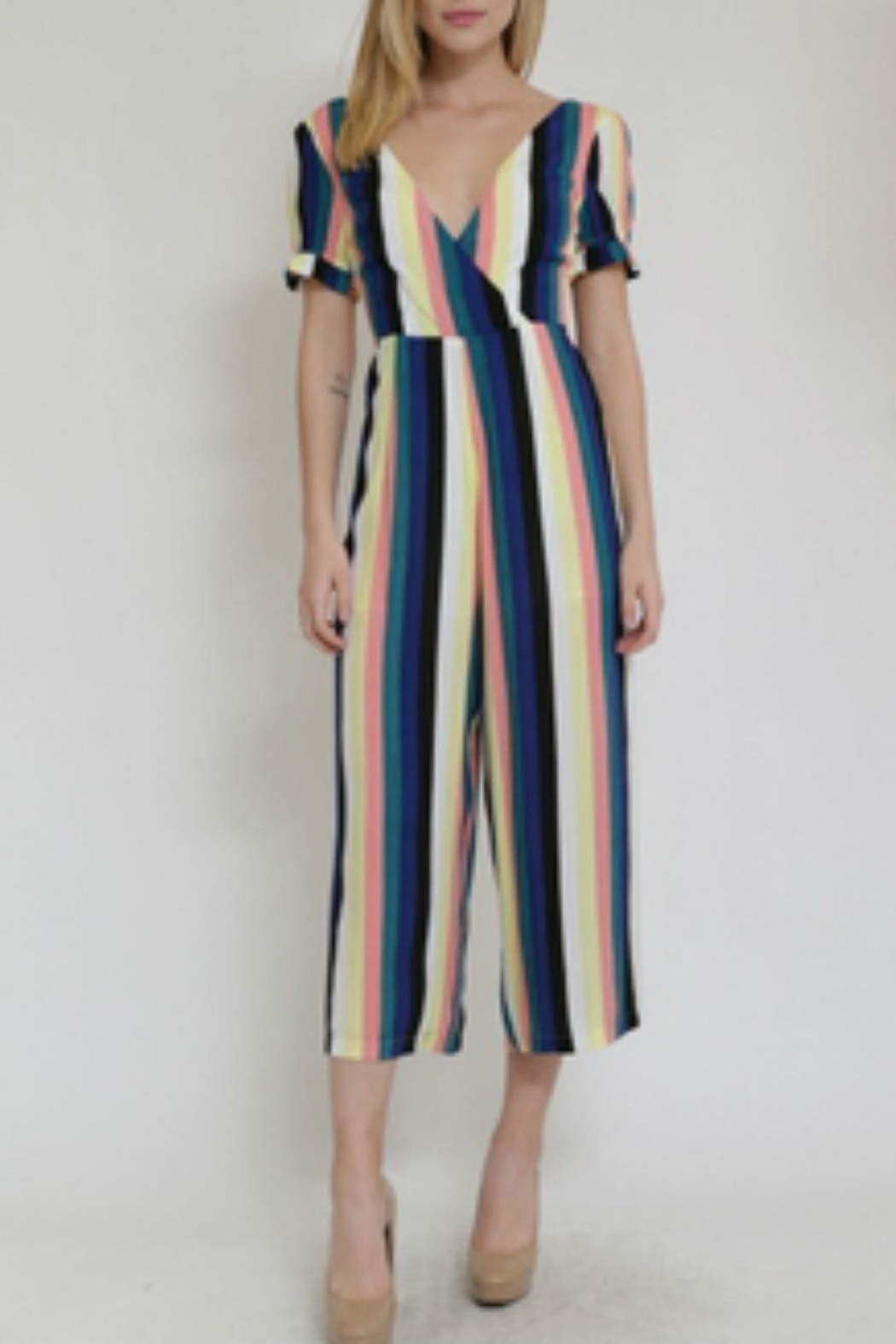 in the Beginning Multicolor Stripe Jumpsuit - Main Image