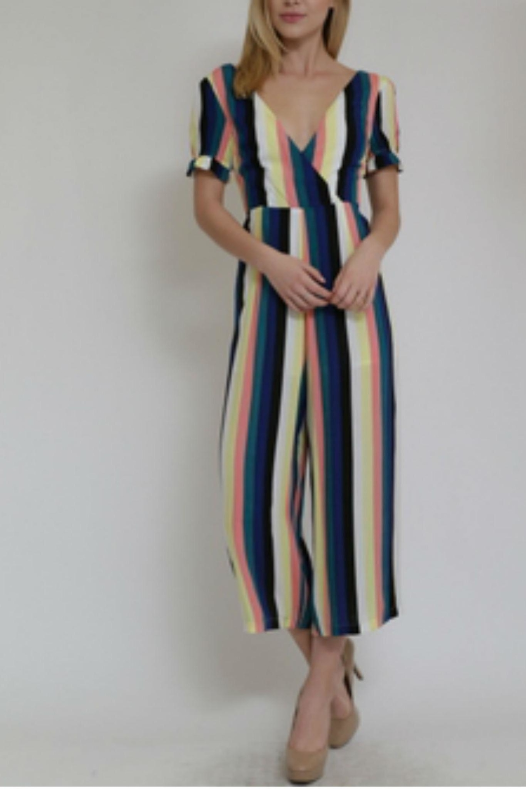 in the Beginning Multicolor Stripe Jumpsuit - Front Full Image