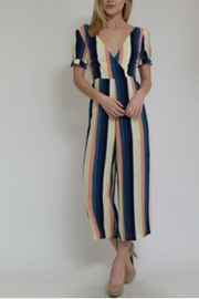 in the Beginning Multicolor Stripe Jumpsuit - Front full body