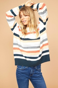 MinkPink Multicolor Stripe Sweater - Product List Image