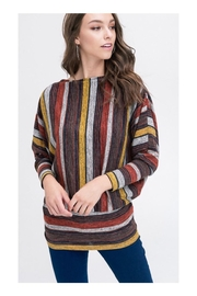 Polly & Esther Multicolor Stripe Top - Front cropped
