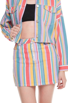 Shoptiques Product: Multicolor Striped Skirt