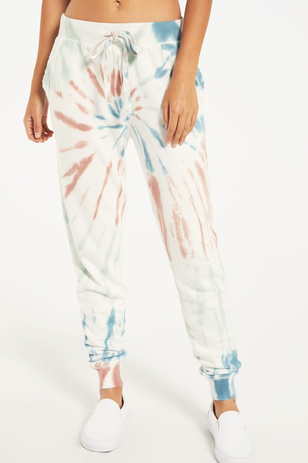 z supply Multicolor Tie Dye Jogger - Front Full Image
