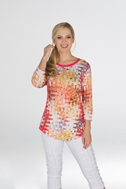 Carine Multicolor Travel Blouse - Front cropped