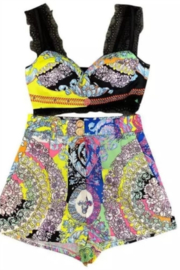Tiny House of Fashion Multicolor Tribal Shorts Set - Front cropped