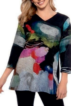 trisha tyler Multicolored Brush Knit Tunic - Alternate List Image
