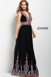 Jovani PROM Multicolored Embroidered Gown - Product Mini Image