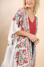 Umgee USA Multicolored Embroidery Kimono - Product Mini Image