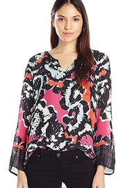 Nic+Zoe Multicolored floral tunic top - Product Mini Image