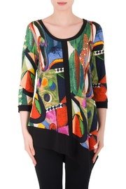 Joseph Ribkoff Multicolored Pattern Top - Front cropped