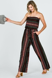 Myesper Apparel Multicolored Stripe Jumpsuit - Product Mini Image