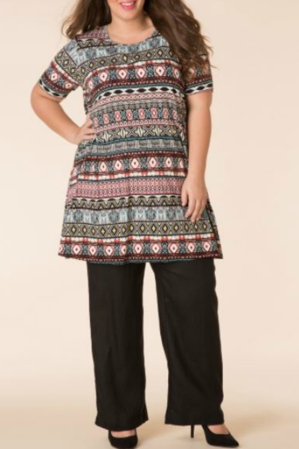 Yest Multicolored Tribal Top - Main Image